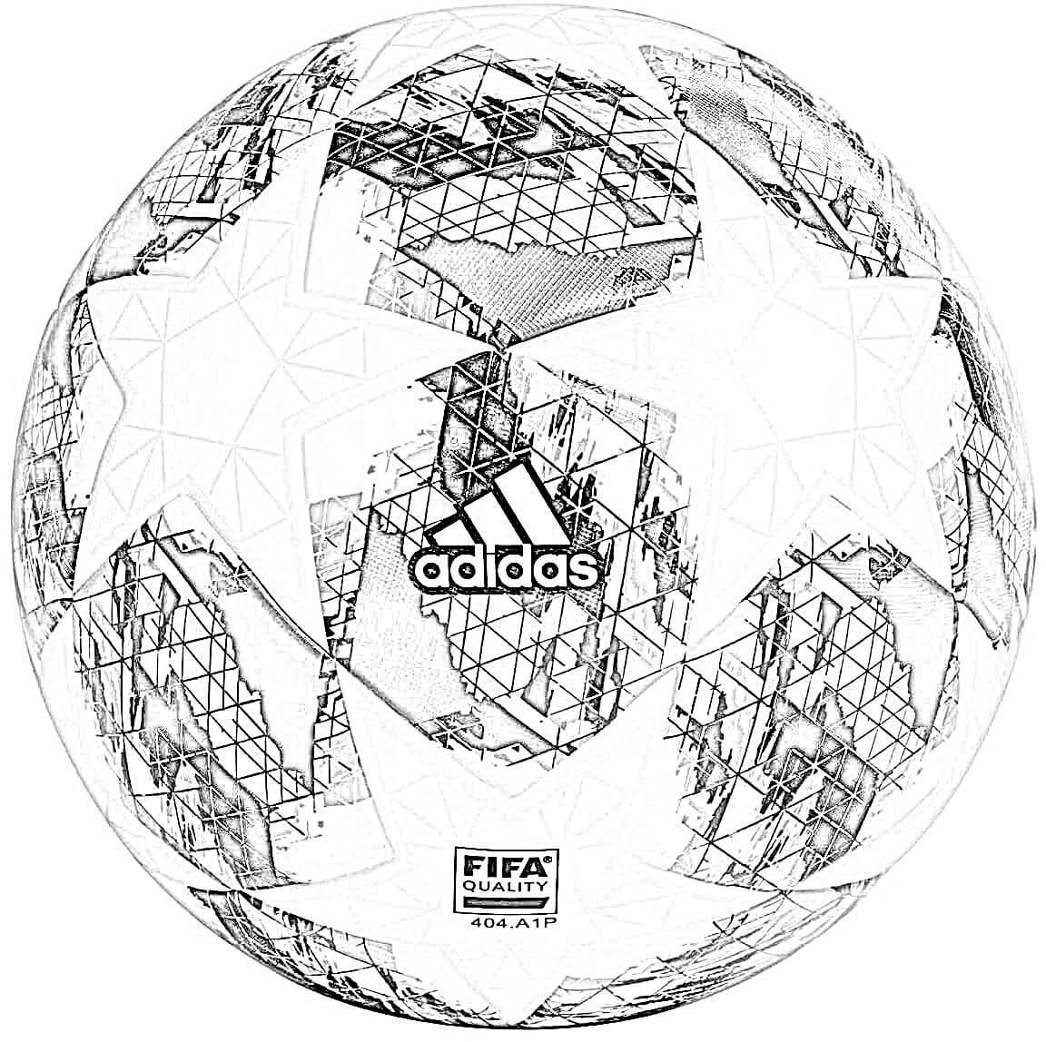 Dibujo Balón de Champions Adidas