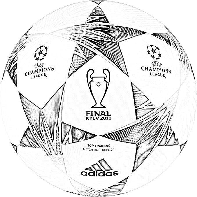 Dibujo Balón de Champions Final 2018